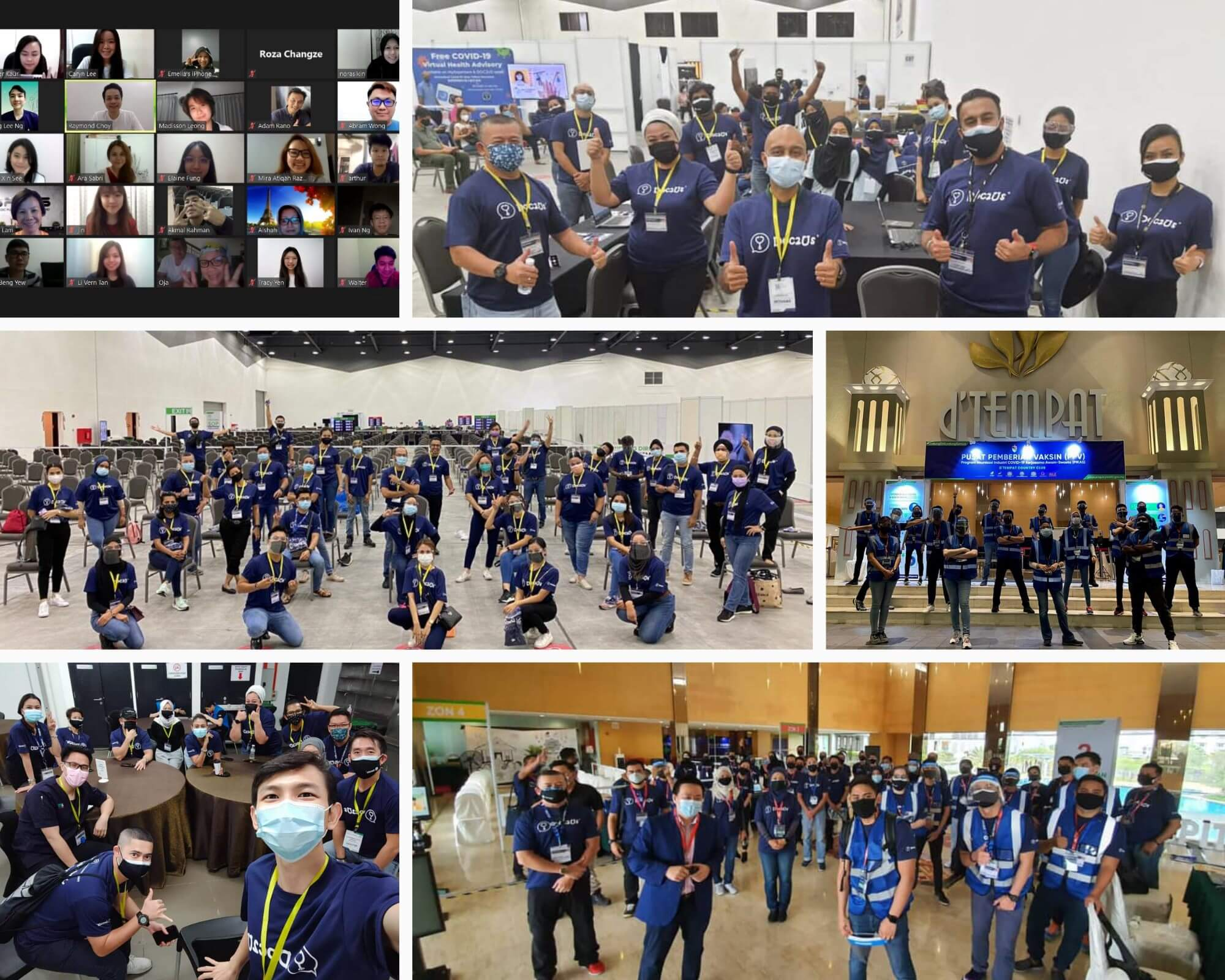 Our 1 Month Anniversary! Today marks an important milestone for our vaccination fighters. It was exactly a month ago we opened the door to our first PPV at Setia City Convention Centre on 7 June.                         From just a mere idea of 2 men, we grew to a team of more than 300 fighters in all of our vaccination centres in Selangor and Seremban.                         We are grateful to be given the opportunity to serve and be part of the state & national vaccination programs in achieving herd immunity.                         As a team, as a nation, we will definitely win this battle together.