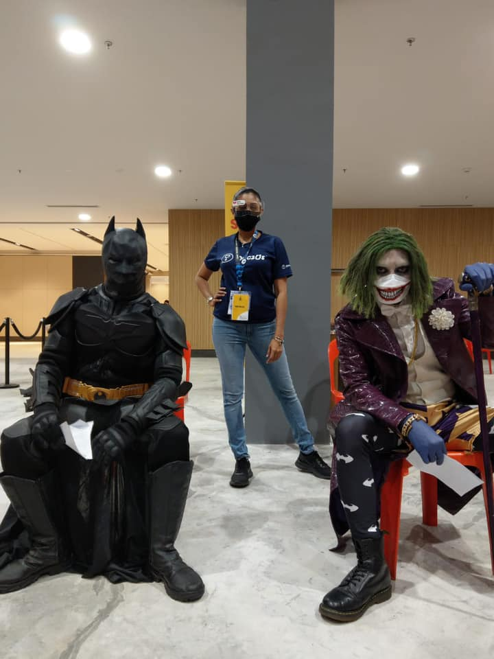 Batman and Joker are joining force to fight this pandemic! They have taken time off their busy schedules to be vaccinated at Tropicana Garden Mall!